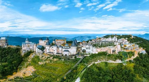 岘港巴拿山远眺