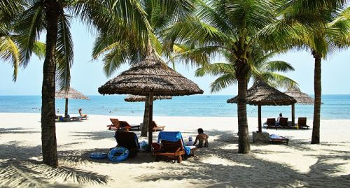 越南岘港海滨风情
