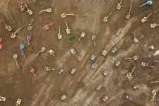 安徽颍上:机械化作业抢筑圩堤 场面壮观(图)