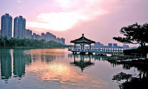 澄清湖日出美景