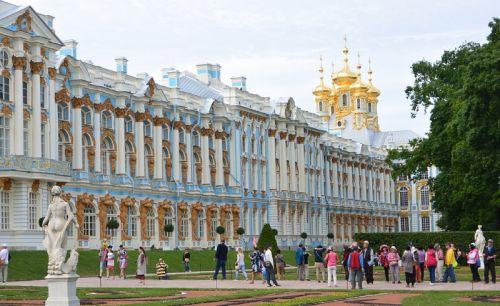 圣彼得堡游人