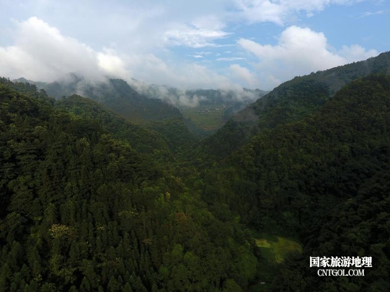2020年9月10日,拍摄的贵州省黔东南苗族侗族自治州从江县庆云镇丹阳景区景色。3(龙梦前摄)
