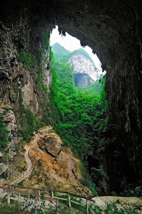 广西凤山喀斯特岩溶地形地貌
