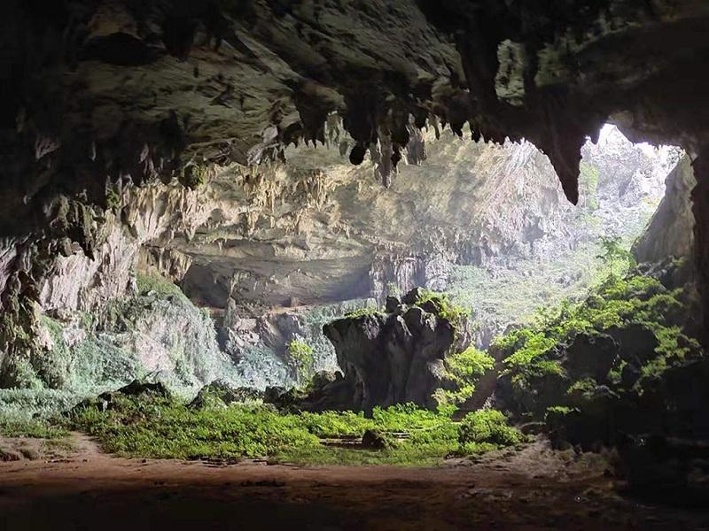 广西三门海,江州地下长廊