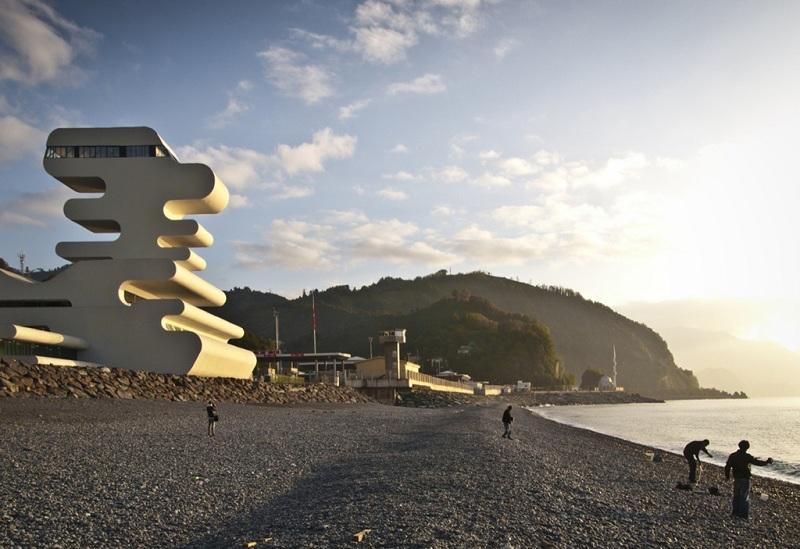 海滨与美丽的建筑