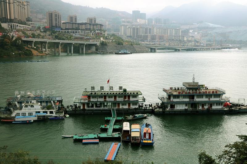 图2:三峡库区175米蓄水重庆市大宁河龙门港航基地已提升水位20余米   唐探峰摄