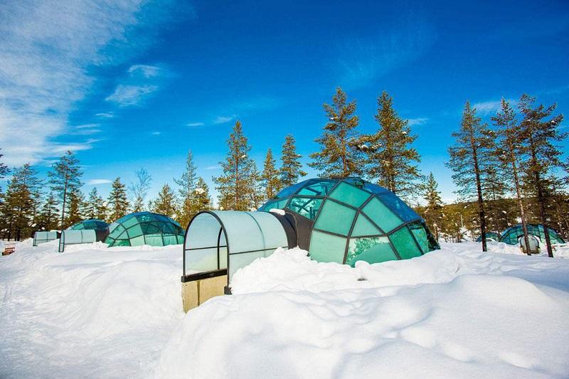 芬兰冬季玻璃屋
