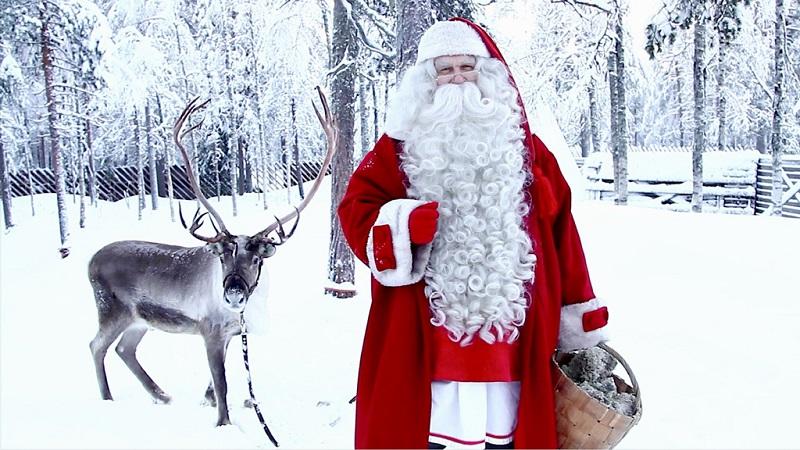 圣诞老人与驯鹿