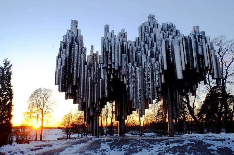 西贝柳斯管风琴雕塑