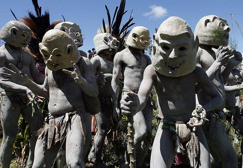 阿萨罗部落面具舞