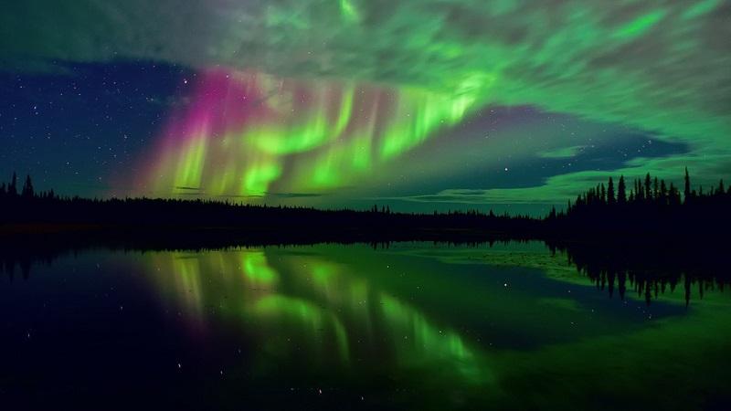 格陵兰北极光