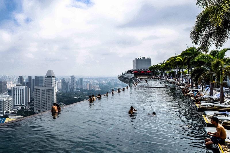 浦东盛高假日酒店也在24层建造了悬空泳池