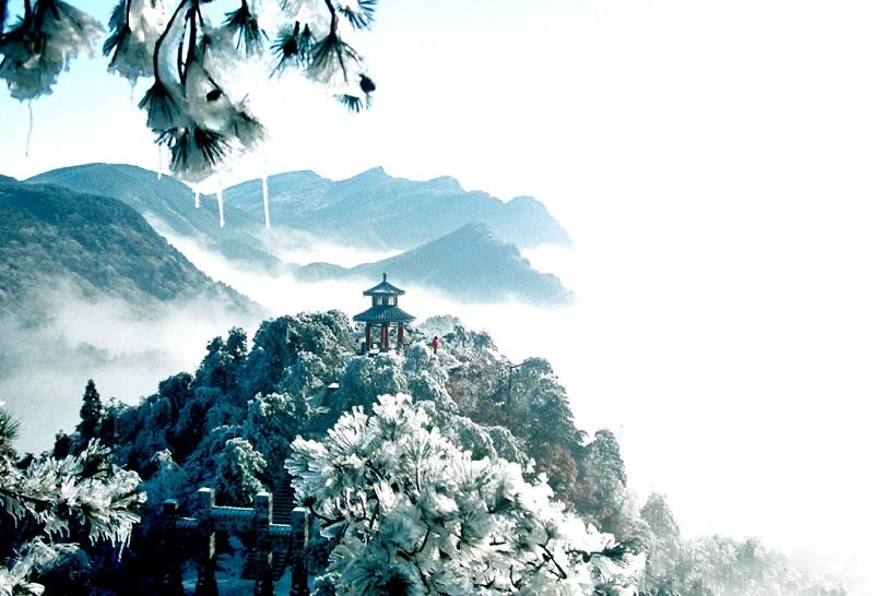 童话般的庐山冬日