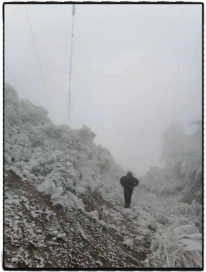 风雪观冰路。赵宇