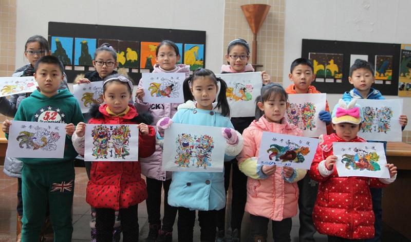孩子们的画作