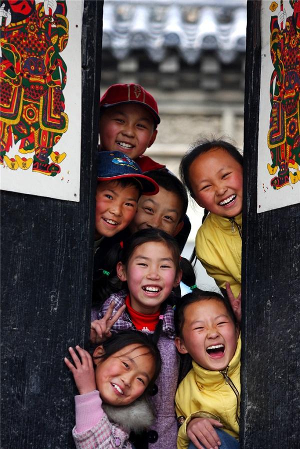 杨家埠可爱的的孩子们