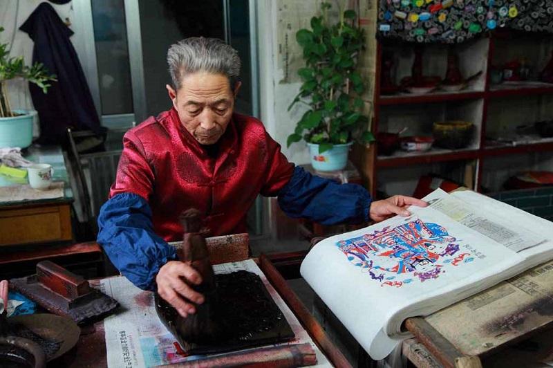 杨家埠年画老艺人