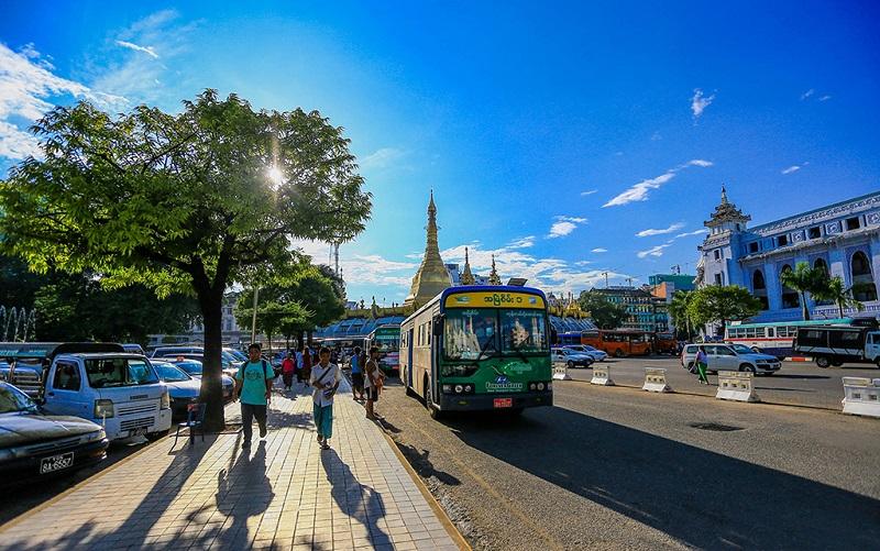 缅甸首都内比都街头