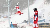 2022年北京冬奥会张家口赛区的崇礼奥运场馆喜迎降雪