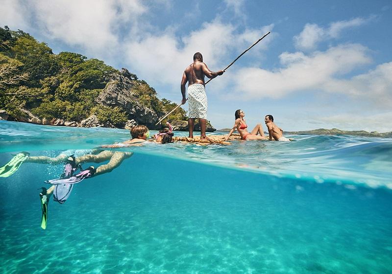 斐济海上游人