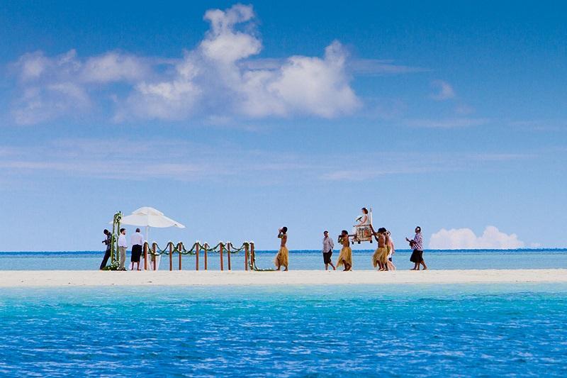 斐济万努来雾岛上的婚礼