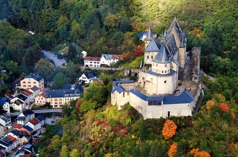 卢森堡古堡秋色