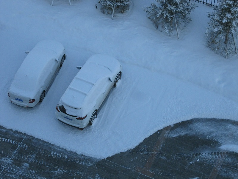 白雪覆盖的汽车