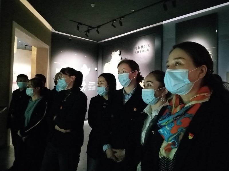 党员参观远古遗迹