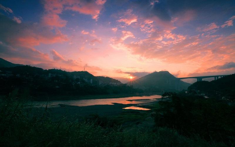 赤水河夕照