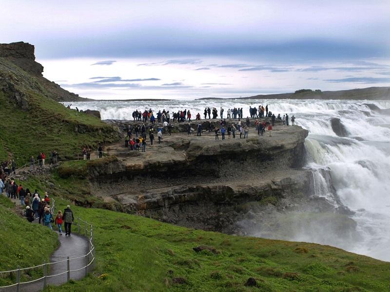 冰岛最美黄金瀑布