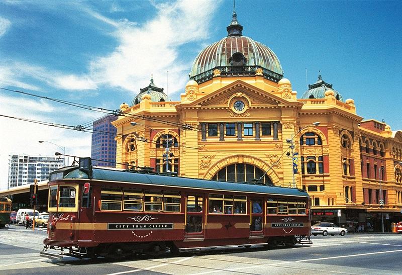 墨尔本火车站与有轨电车