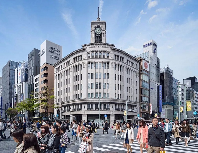东京银座街头