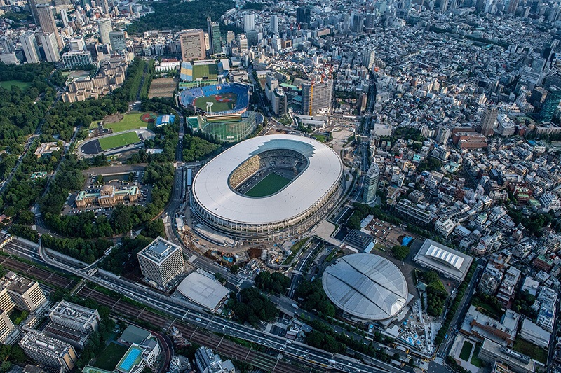 鸟瞰东京奥运会主场馆