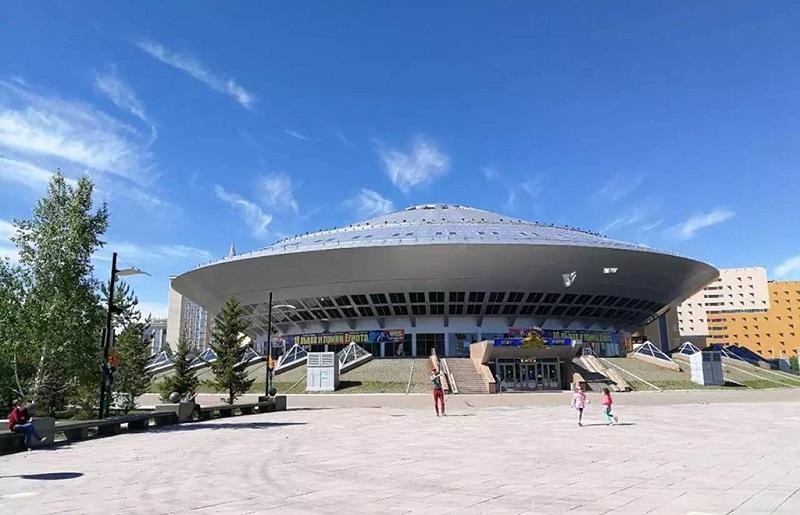 阿斯塔纳飞碟型现代建筑