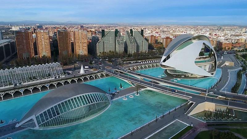 巴伦西亚科学城建筑地标景点