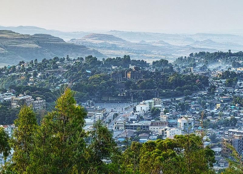 埃塞俄比亚贡德尔古城鸟瞰