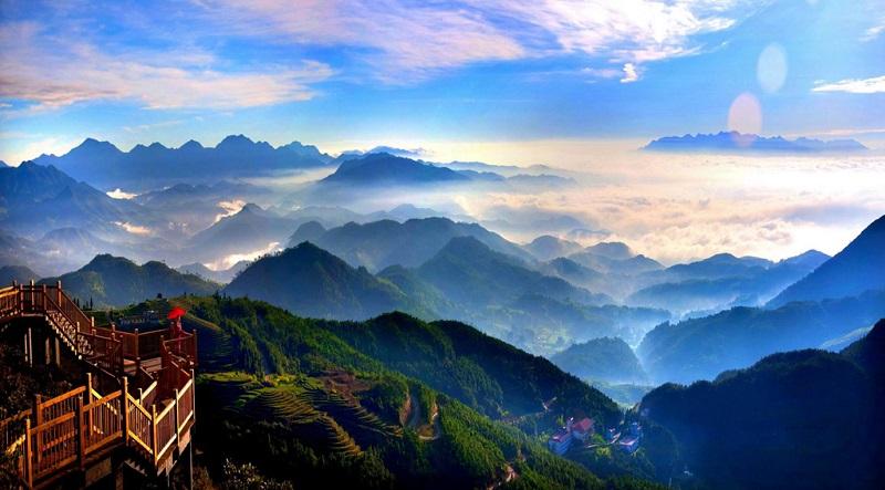 美丽的清源山脉
