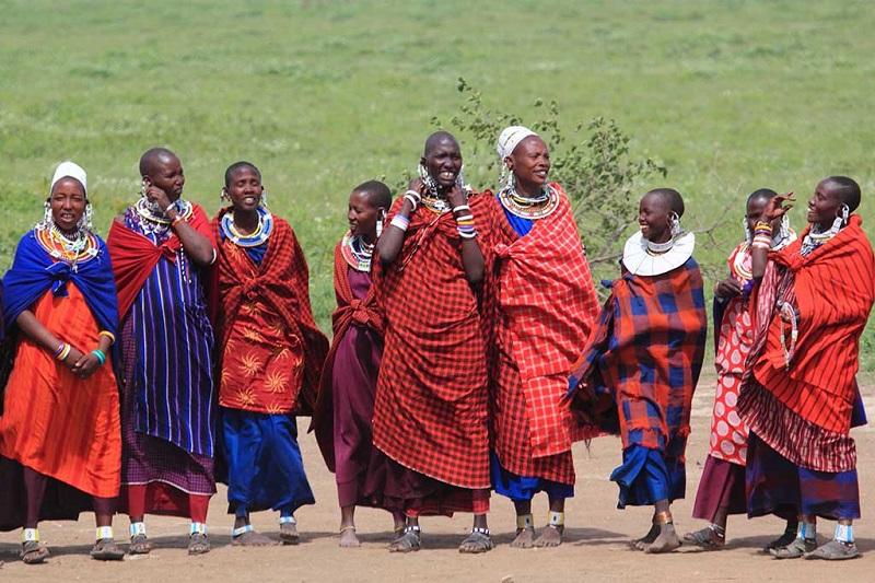 坦桑尼亚马赛部落女人们