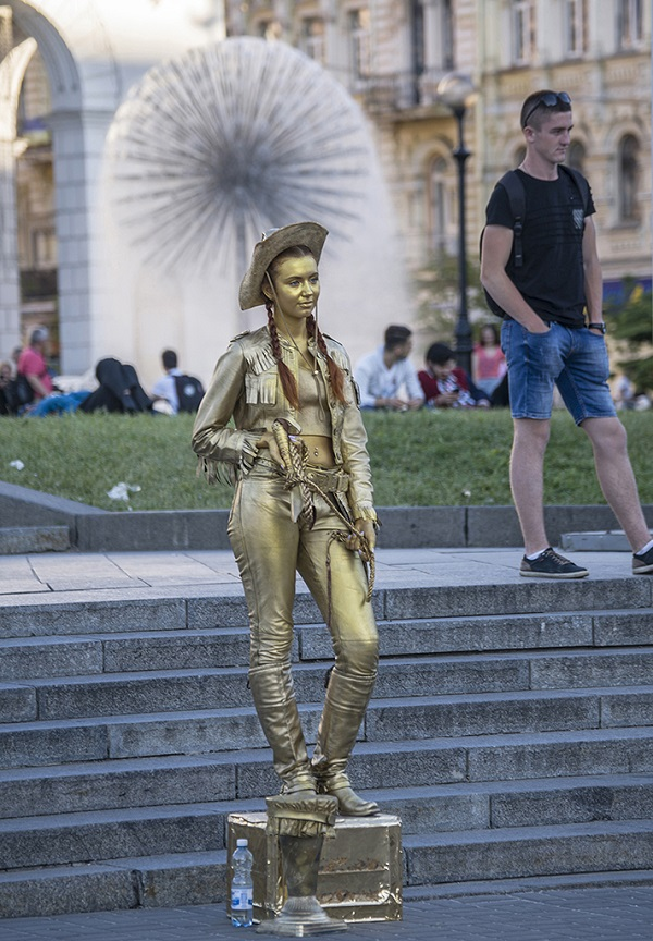 基辅广场上的行为艺术