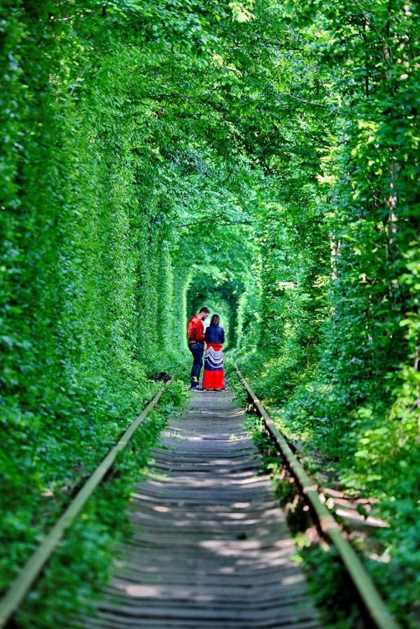 """乌克兰闻名于世的""""爱情隧道"""""""