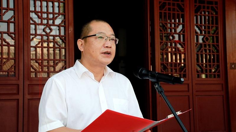 黎平县委常委、县委宣传部部长陈启鸫主持 姚强拍摄