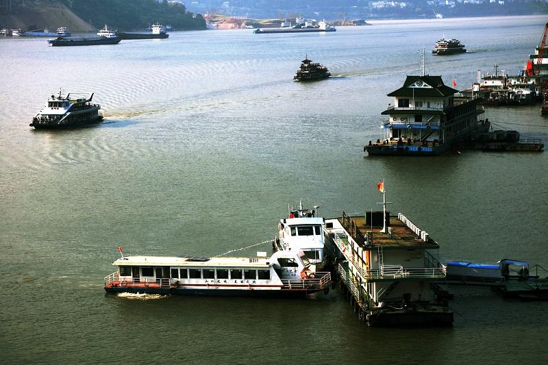 图8:巫山港航海事5A级小三峡景区龙门安检站严格履职确保景区安全。2021年10月3日,摄于重庆巫山小三峡龙门峡口。唐探峰