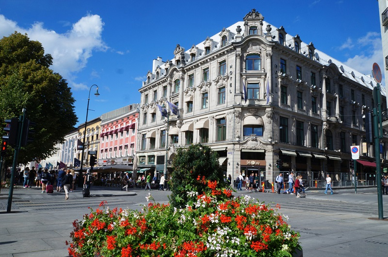 奥斯陆最繁华的步行街
