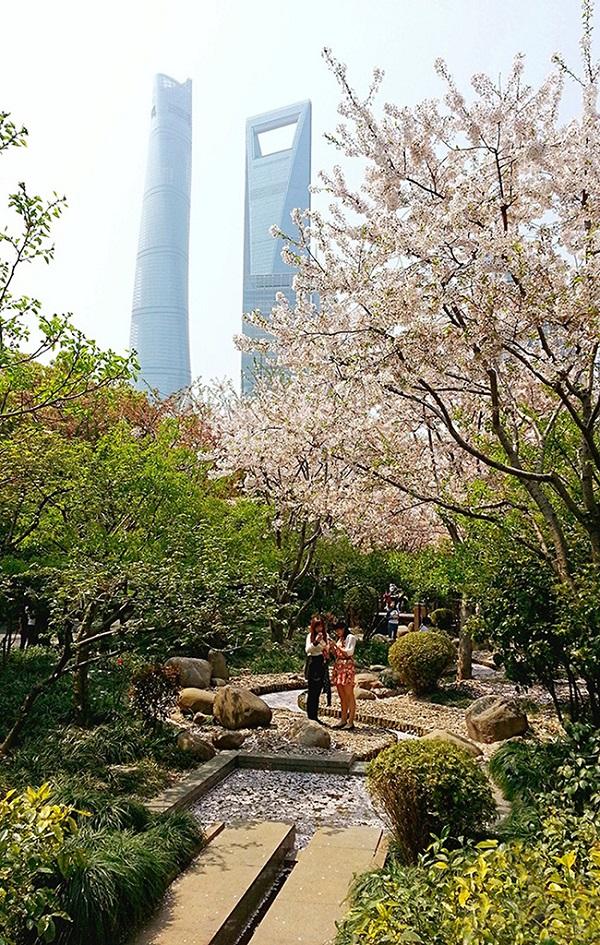 浦东中心绿地公园内
