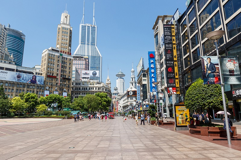 上海南京路上